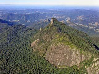 Mount Warning aerial view