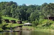 Hosanna cabins overlook the lake