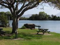 Riverside picnic table